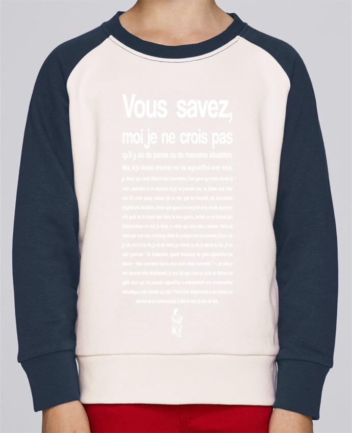 Sweat Shirt Col Rond Enfant Stanley Mini Contrast Citation Scribe Astérix par tunetoo