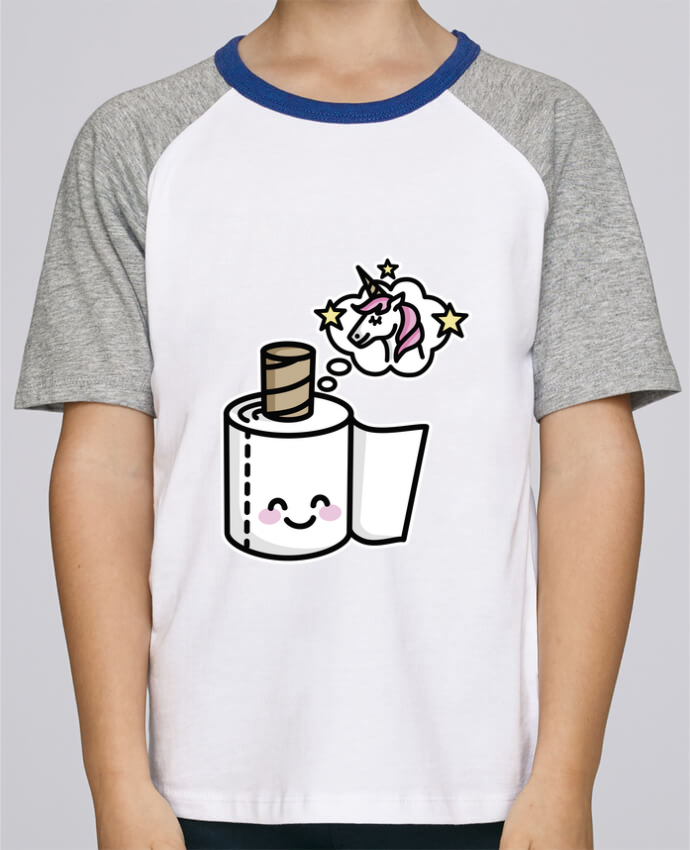 Tee-Shirt Enfant Stanley Mini Jump Short Sleeve Unicorn Toilet Paper par LaundryFactory