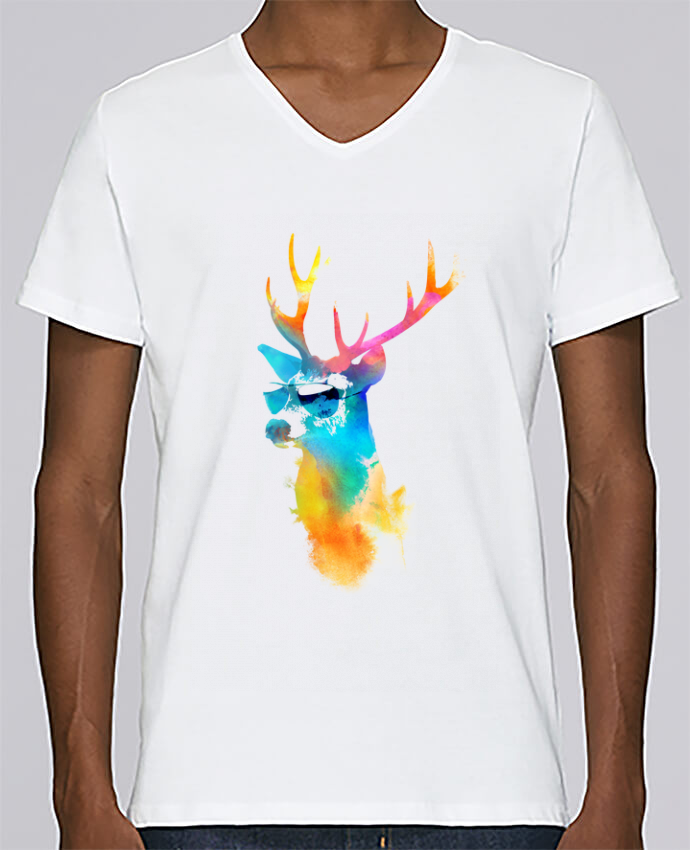 T-shirt Col V Homme Stanley Relaxes Sunny stag par robertfarkas