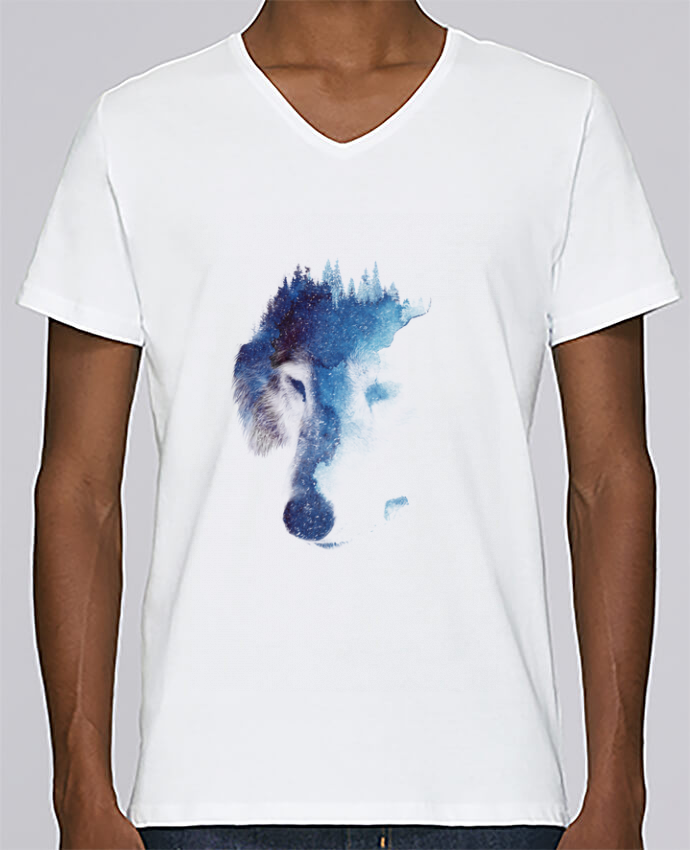 T-shirt Col V Homme Stanley Relaxes Through many storms par robertfarkas