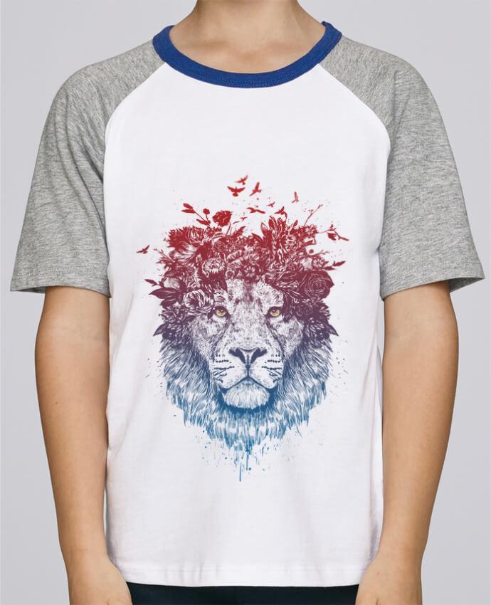 Tee-Shirt Enfant Stanley Mini Jump Short Sleeve Floral lion III par Balàzs Solti