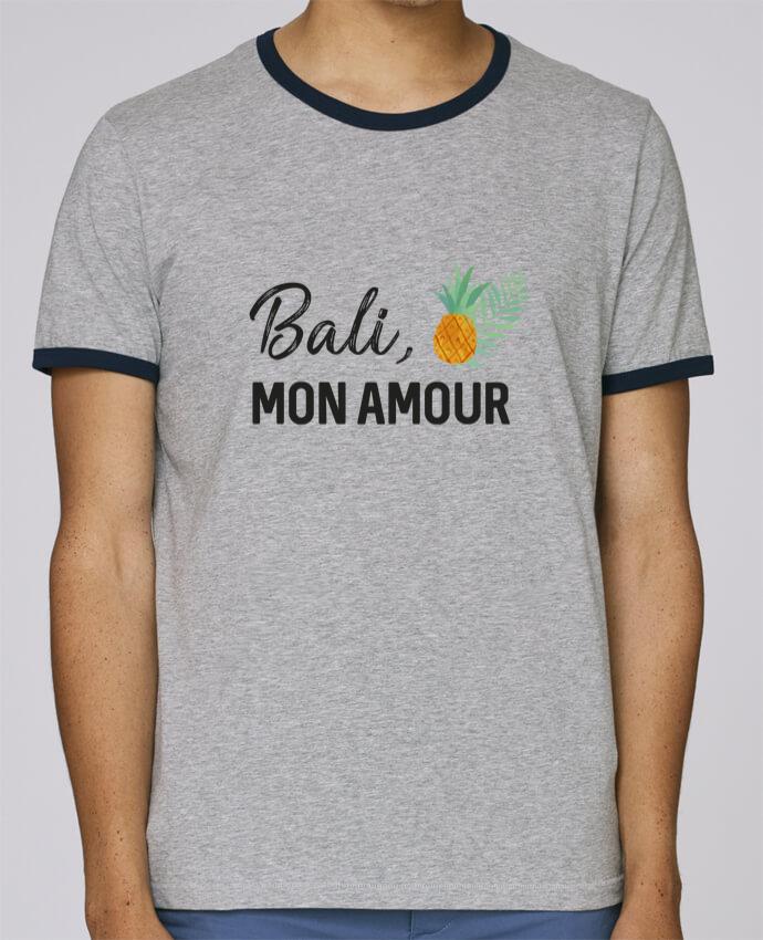 T-Shirt Ringer Contrasté Homme Stanley Holds Bali, mon amour pour femme par IDÉ'IN