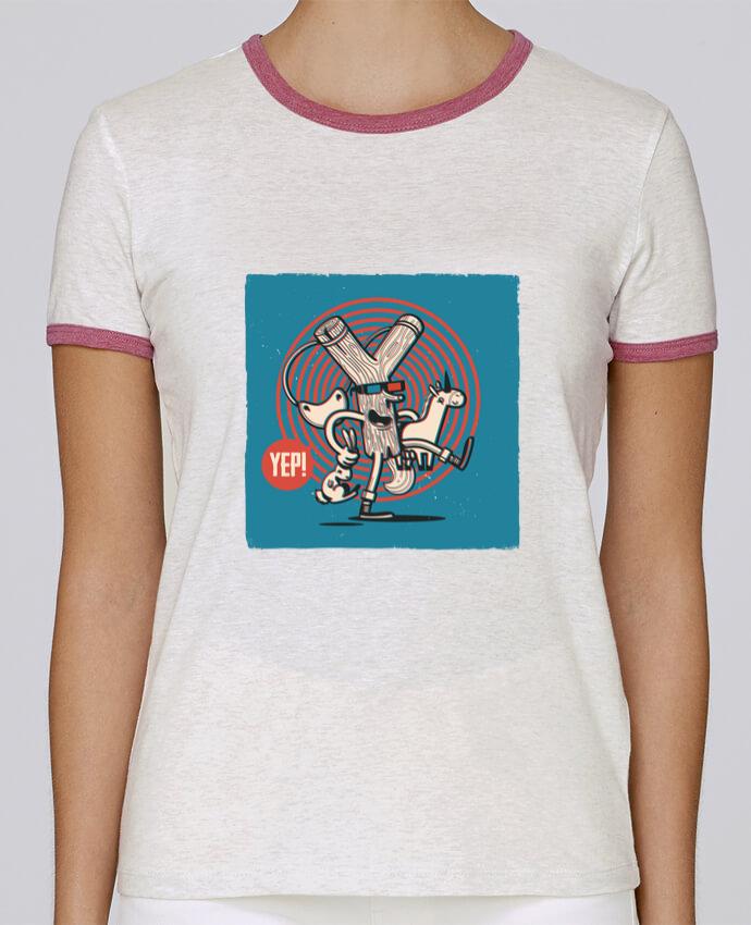 T-shirt Femme Stella Returns YEP! Lance Pierre 3D pour femme par YEP!