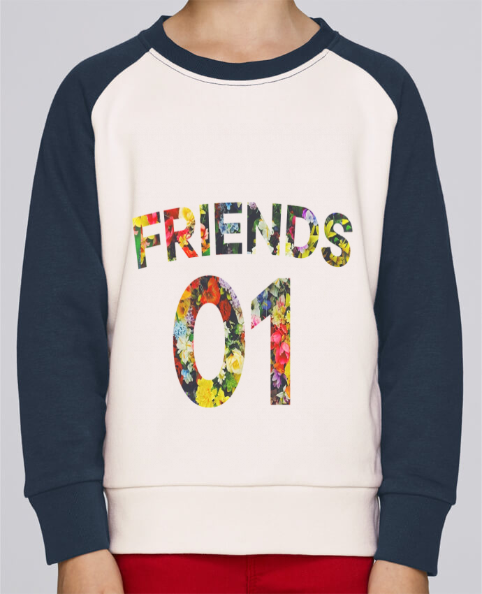 Sweat Shirt Col Rond Enfant Stanley Mini Contrast BEST FRIENDS FLOWER 2 par tunetoo