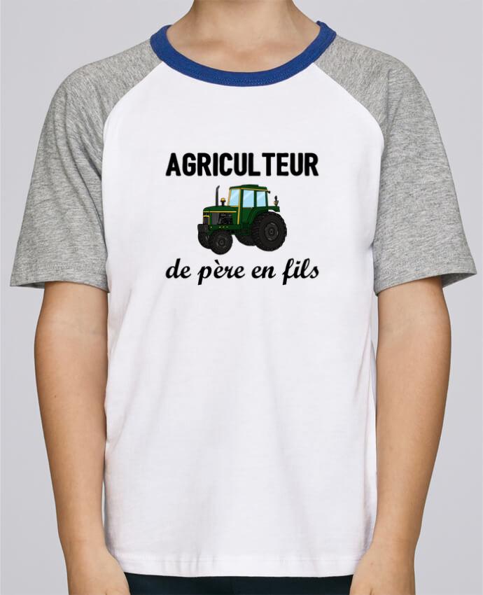 Tee-Shirt Enfant Stanley Mini Jump Short Sleeve Agriculteur de père en fils par tunetoo