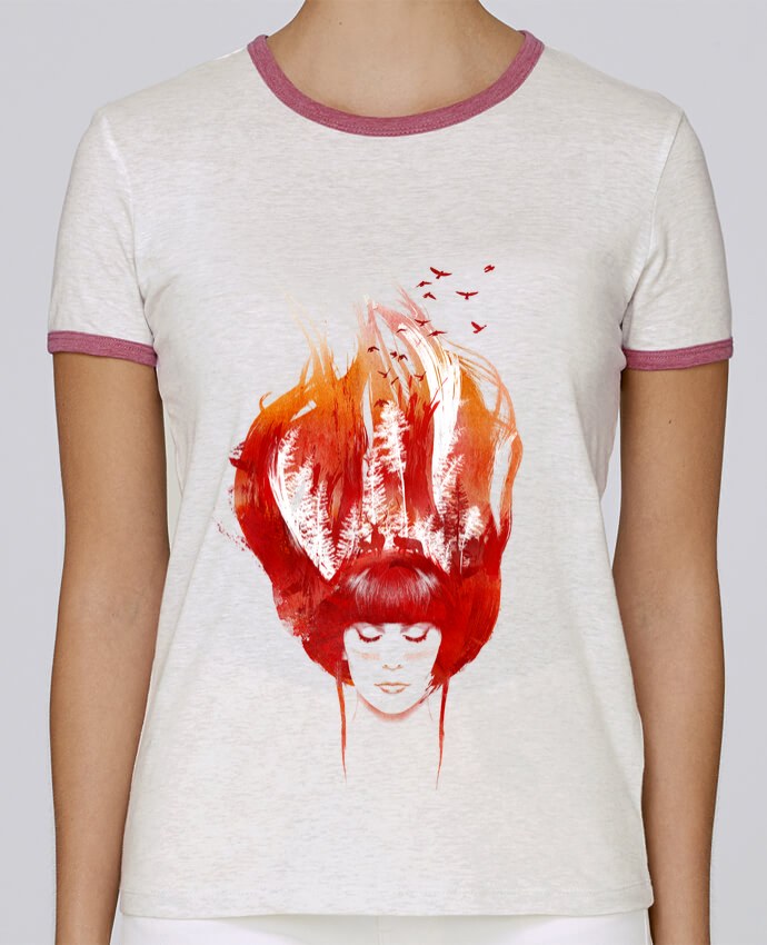 T-shirt Femme Stella Returns Burning forest pour femme par robertfarkas