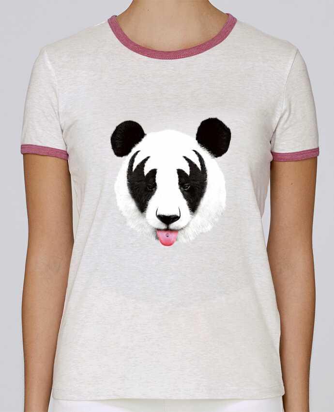 T-shirt Femme Stella Returns Kiss of a panda pour femme par robertfarkas