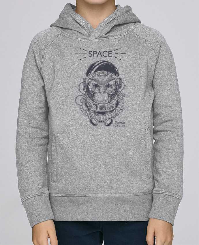 Sweat à Capuche Enfant Stanley Mini Base Monkey space par Mauvaise Graine