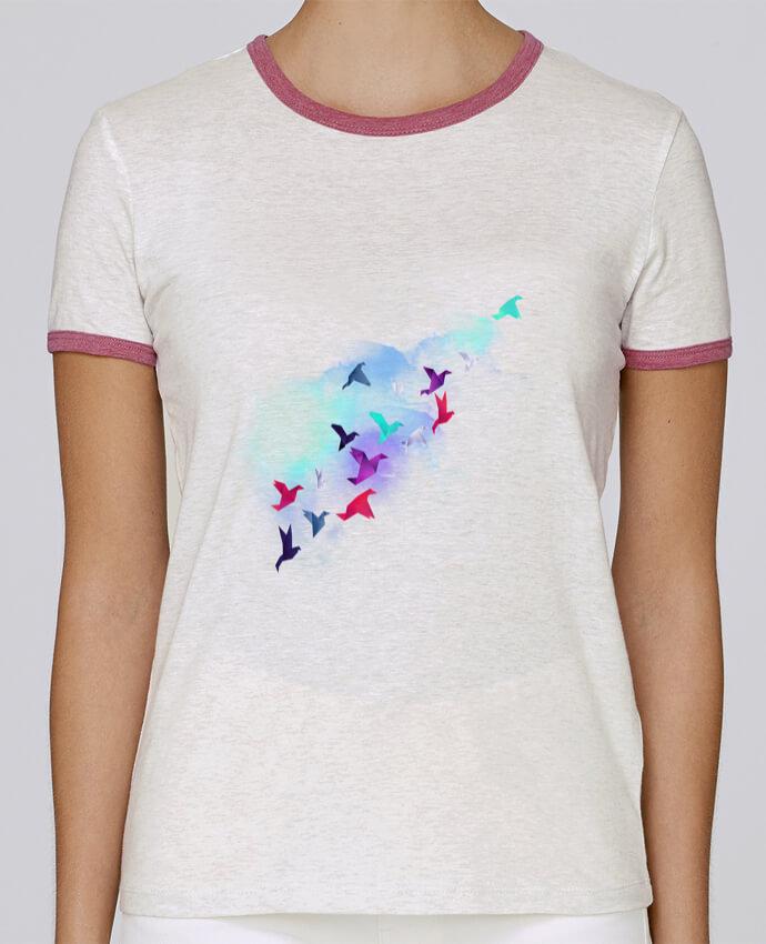 T-shirt Femme Stella Returns Paper birds pour femme par robertfarkas