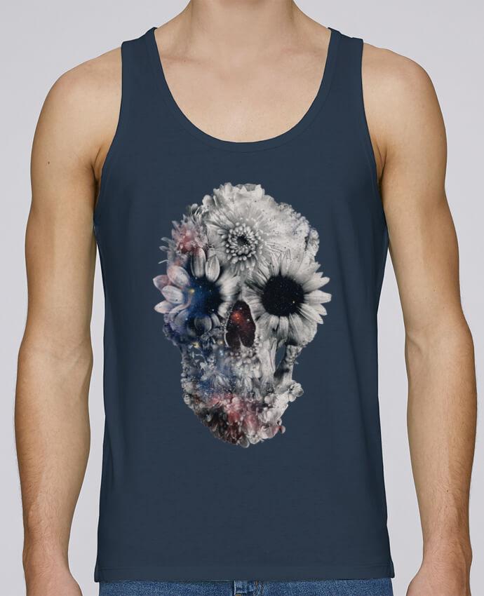 Débardeur Bio Homme Stanley Runs Floral skull 2 par ali_gulec 100% coton bio