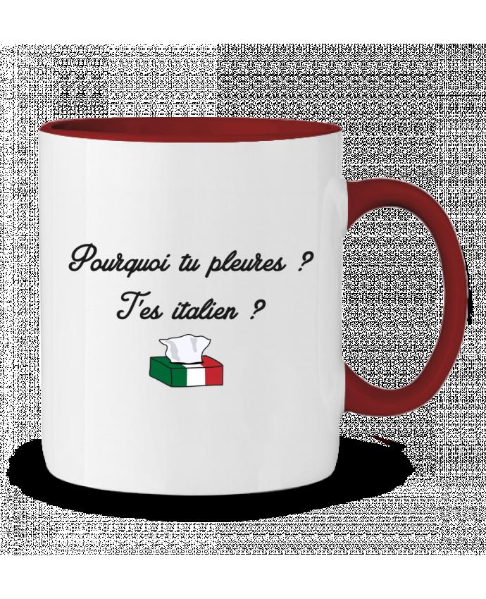 Mug en Céramique Bicolore Italie Coupe du monde Troll tunetoo