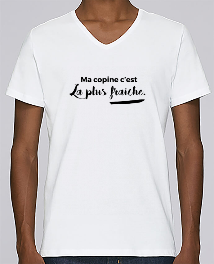 T-shirt Col V Homme Stanley Relaxes Ma copine c