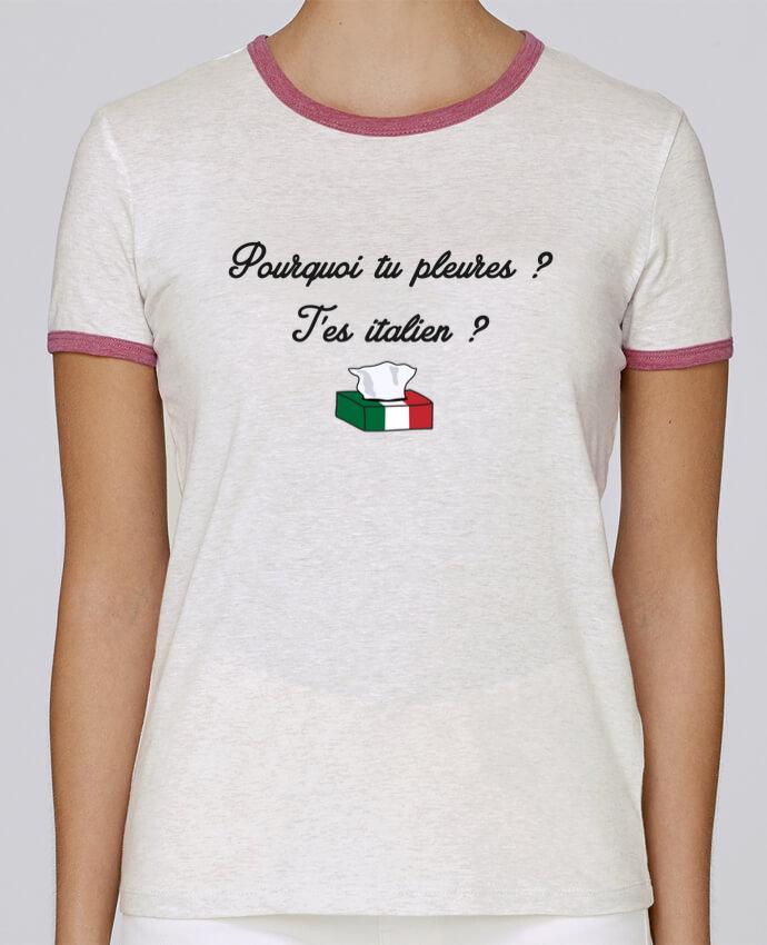 T-shirt Femme Stella Returns Italie Coupe du monde Troll pour femme par tunetoo
