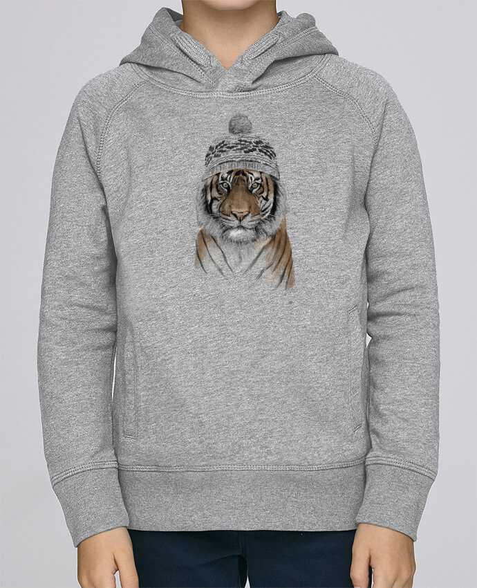 Sweat à Capuche Enfant Stanley Mini Base Siberian tiger par Balàzs Solti