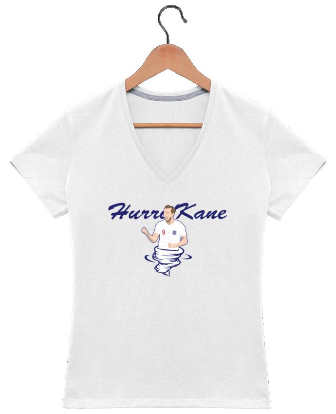 T-shirt Col V Femme 180 gr Harry Kane Nickname par tunetoo
