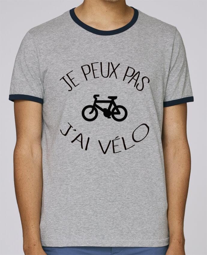 T-Shirt Ringer Contrasté Homme Stanley Holds Je peux pas j'ai vélo pour femme par Freeyourshirt.com