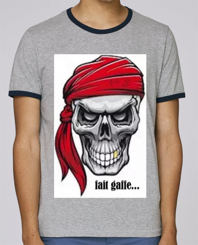 prix Royaume-Uni disponibilité répliques T-Shirt Ringer Contrasté Homme Stanley Holds tete de mort avec bandeau pour  femme par Jimindy