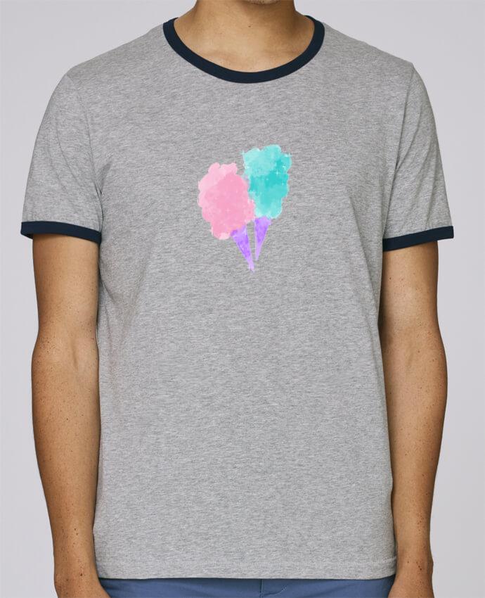 T-Shirt Ringer Contrasté Homme Stanley Holds Watercolor Cotton Candy pour femme par PinkGlitter