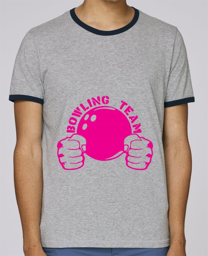 T-Shirt Ringer Contrasté Homme Stanley Holds bowling team poing fermer logo club pour femme par Achille