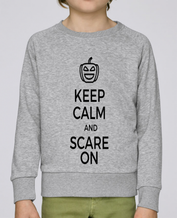 Sweat Col Rond Enfant Stanley Mini Scouts Keep Calm and Scare on Pumpkin par tunetoo