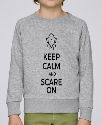 Sweat Col Rond Enfant Stanley Mini Scouts Keep Calm and Scare on Ghost par tunetoo