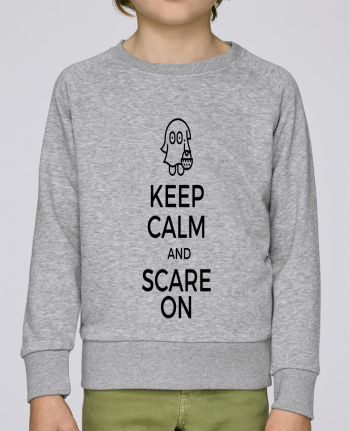 Sweat Col Rond Enfant Stanley Mini Scouts Keep Calm and Scare on little Ghost par tunetoo