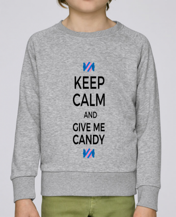 Sweat Col Rond Enfant Stanley Mini Scouts Keep Calm and give me candy par tunetoo
