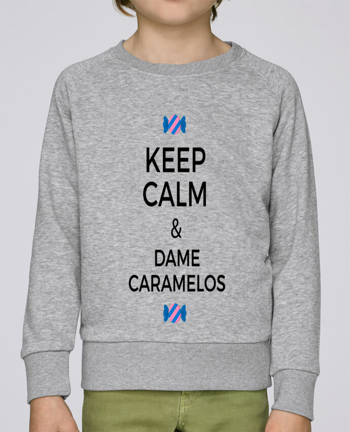 Sweat Col Rond Enfant Stanley Mini Scouts Keep Calm and Dame Caramelos par tunetoo
