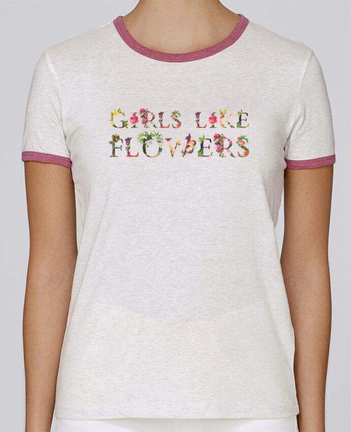 T-shirt Femme Stella Returns Girls like flowers pour femme par tunetoo