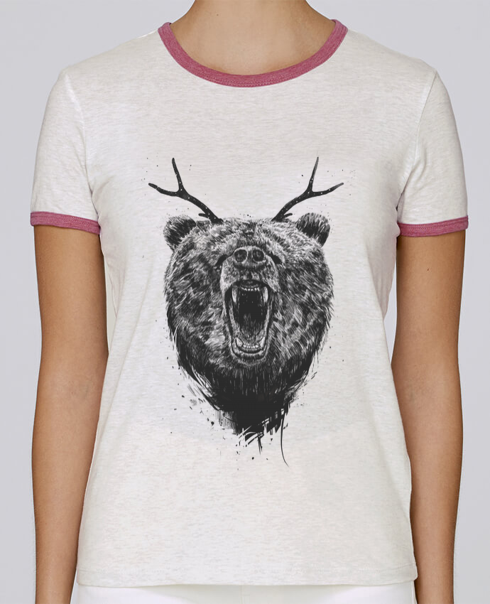 T-shirt Femme Stella Returns Angry bear with antlers pour femme par Balàzs Solti