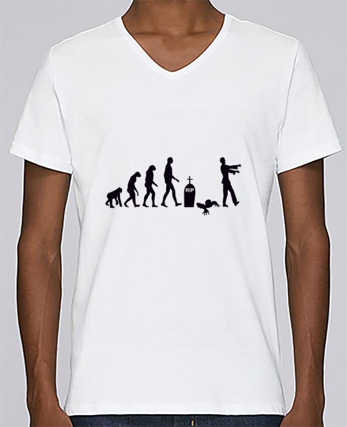 T-shirt Col V Homme Stanley Relaxes Zombie évolution par Benichan