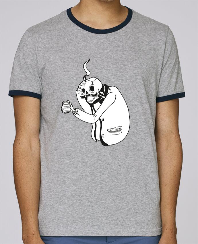 T-Shirt Ringer Contrasté Homme Stanley Holds Tête de mort pour femme par LF Design