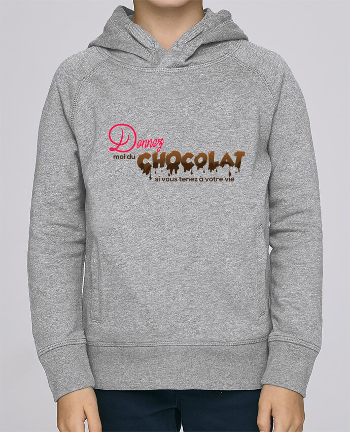 Sweat à Capuche Enfant Stanley Mini Base Donnez moi du chocolat !! par tunetoo