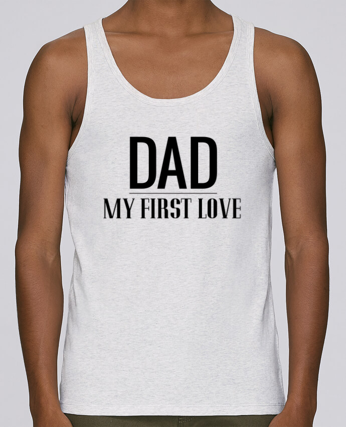 Débardeur Bio Homme Stanley Runs Dad my first love par tunetoo 100% coton bio
