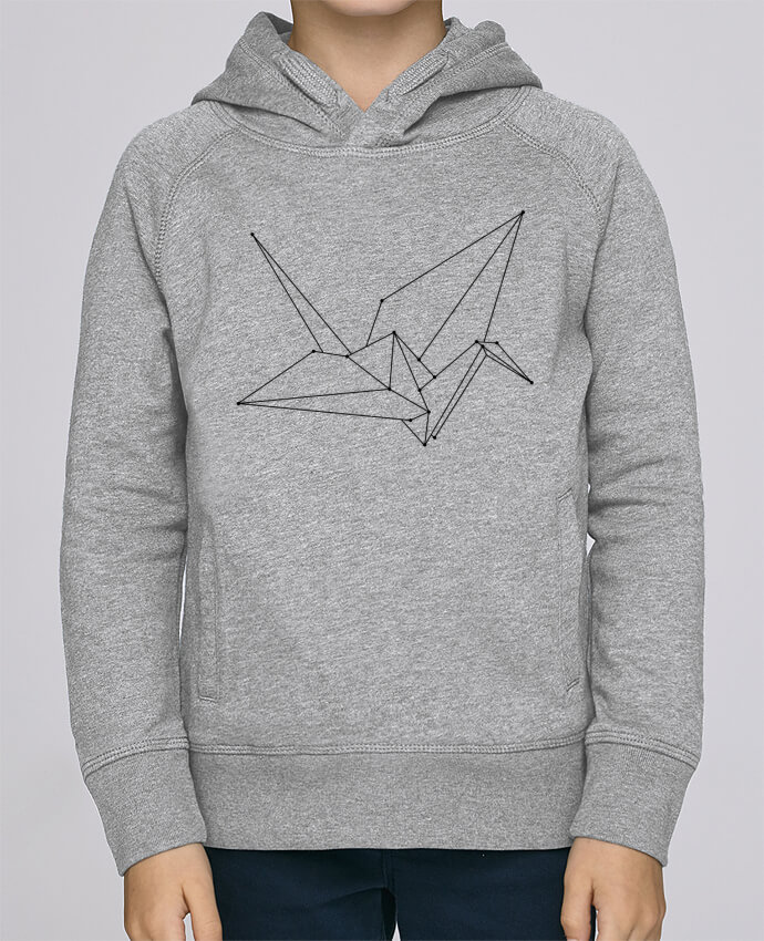 Sweat à Capuche Enfant Stanley Mini Base Origami bird par /wait-design