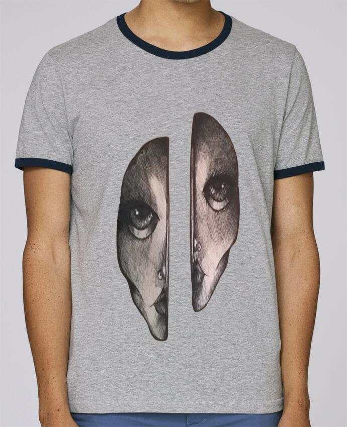 T-Shirt Ringer Contrasté Homme Stanley Holds Headache pour femme par OhHelloGuys!
