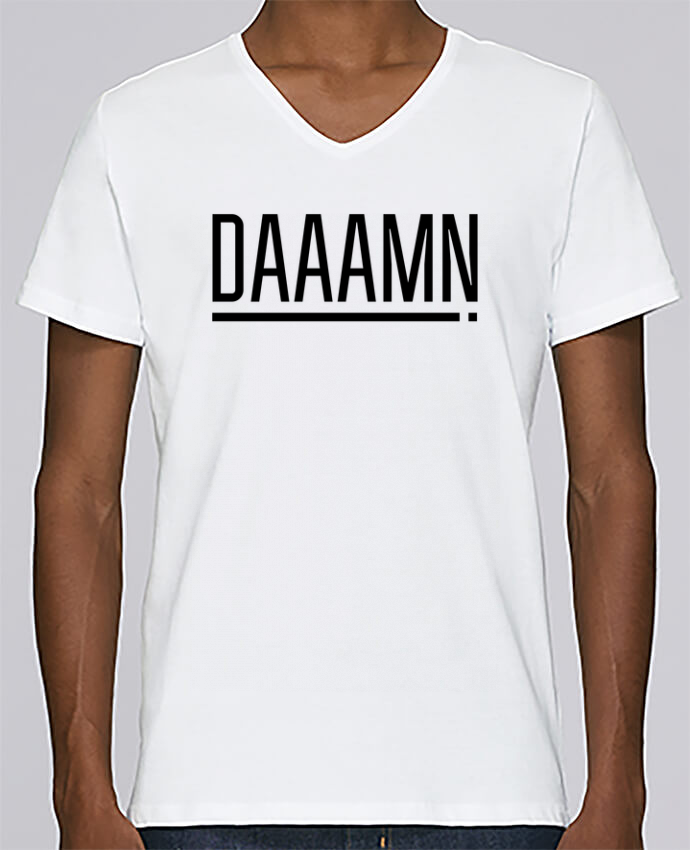 T-shirt Col V Homme Stanley Relaxes Daaamn ! par tunetoo