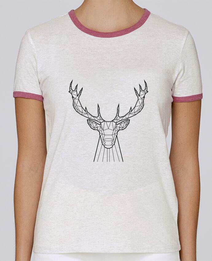 T-shirt Femme Stella Returns cerf animal prism pour femme par Yorkmout
