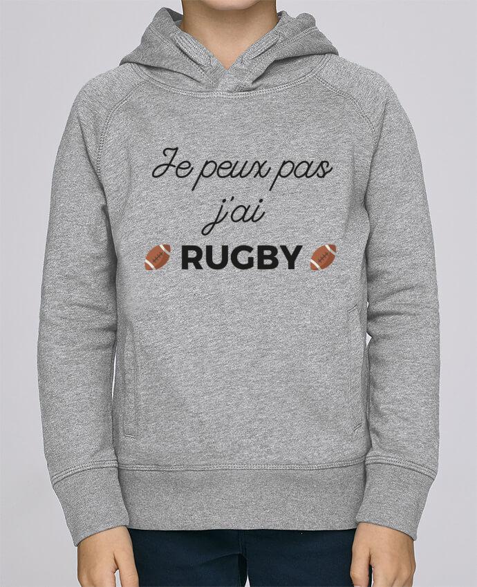 Sweat à Capuche Enfant Stanley Mini Base Je peux pas j'ai Rugby par Ruuud