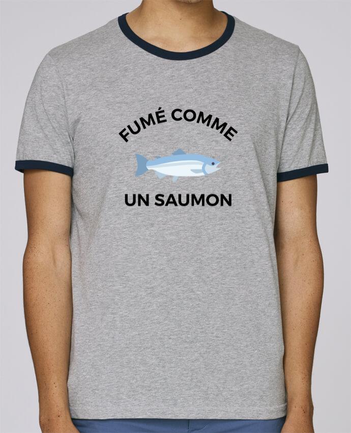 T-Shirt Ringer Contrasté Homme Stanley Holds fumé comme un saumon pour femme par Ruuud