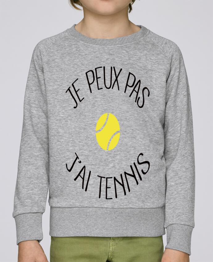 Sweat Col Rond Enfant Stanley Mini Scouts Je peux pas j'ai Tennis par Freeyourshirt.com