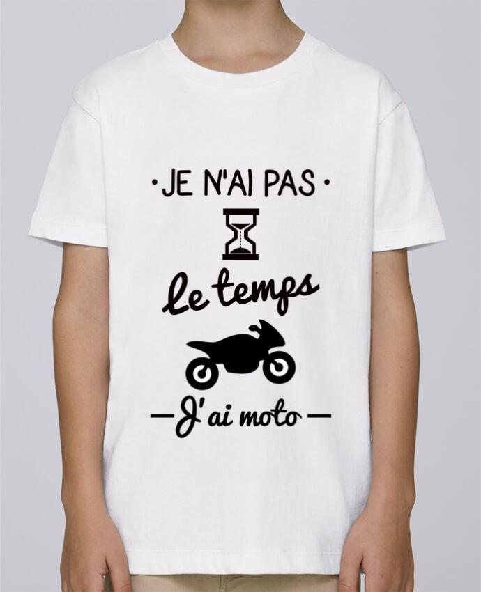 Tee Shirt Garçon Stanley Mini Paint Pas le temps j'ai moto, motard par Benichan