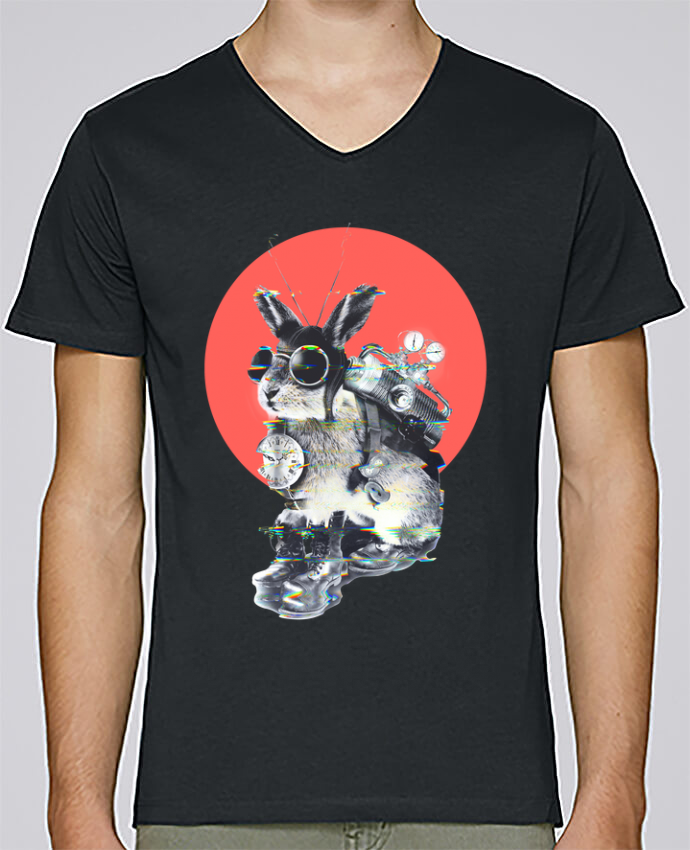 T-shirt Col V Homme Stanley Relaxes time traveller par ali_gulec
