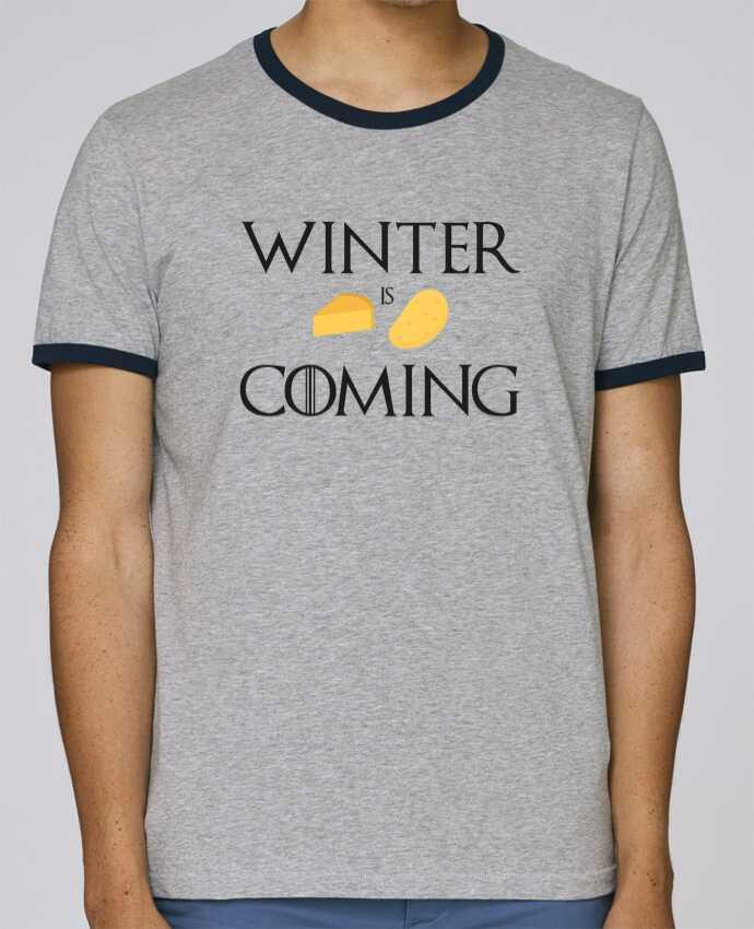 T-Shirt Ringer Contrasté Homme Stanley Holds Winter is coming pour femme par Ruuud