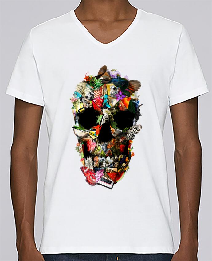 T-shirt Col V Homme Stanley Relaxes Fragile par ali_gulec