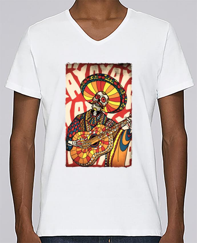T-shirt Col V Homme Stanley Relaxes Mariachi par ali_gulec