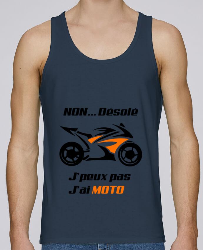 Débardeur Bio Homme Stanley Runs J'peux pas j'ai moto par MotorWave's 100% coton bio