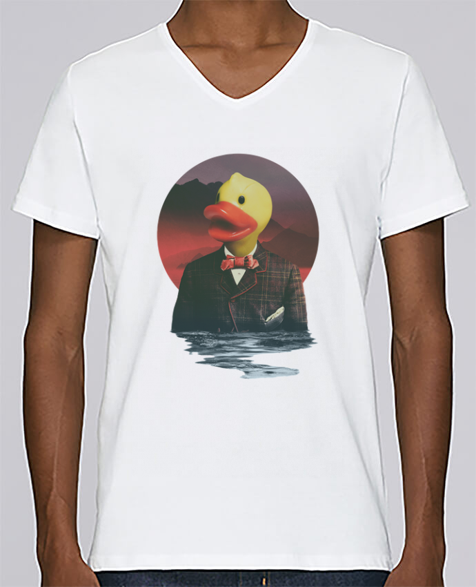 T-shirt Col V Homme Stanley Relaxes Rubber ducky par ali_gulec
