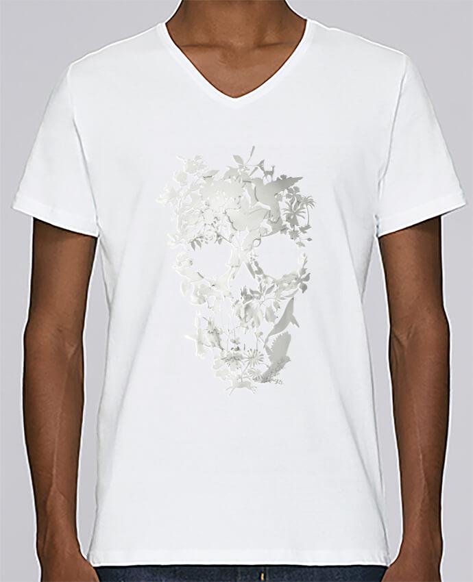 T-shirt Col V Homme Stanley Relaxes Simple Skull par ali_gulec