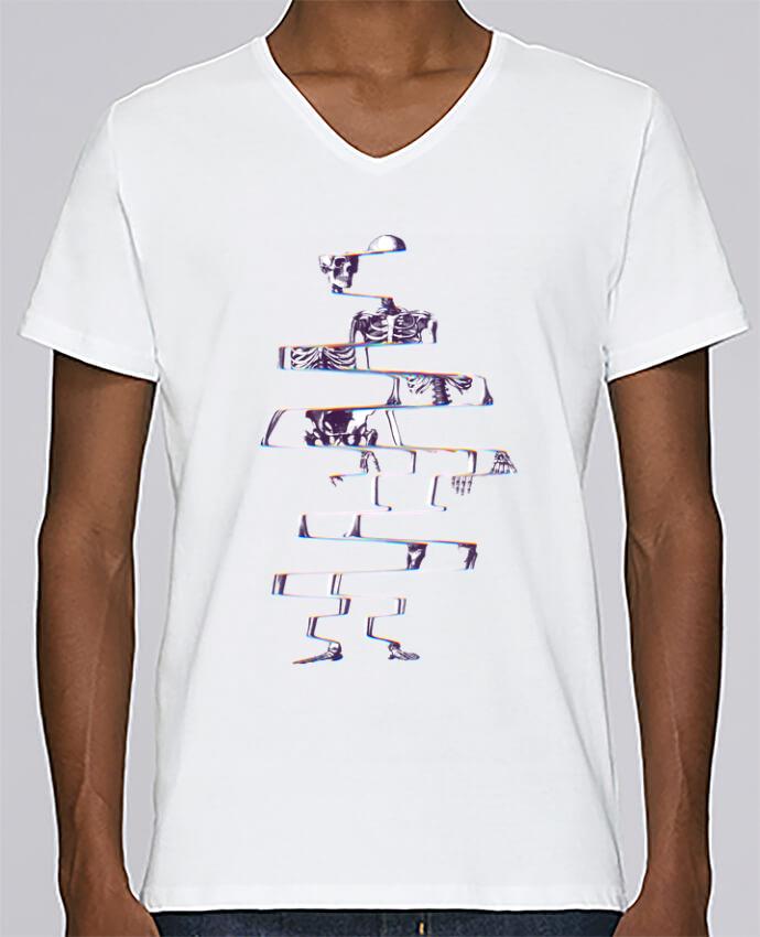 T-shirt Col V Homme Stanley Relaxes Skeleton par ali_gulec